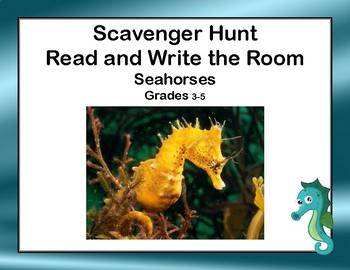 Reading-Seahorses- Read and Write The Room- Grades 3-5