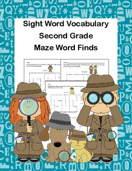 Reading-Second Grade Sight Words-Maze Word Finds