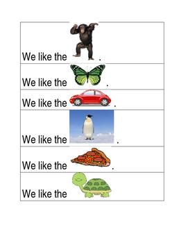 Reading Sentence Strips