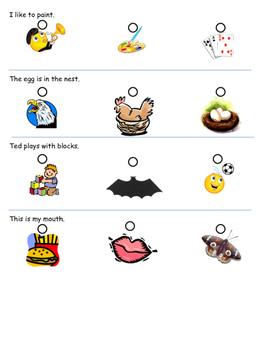 Reading Sentences Assessment