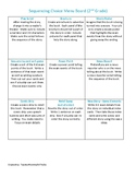 Reading Sequencing Choice Board
