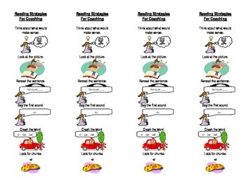 Reading Strategies Coaching Bookmarks