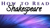 Reading Shakespeare Powerpoint: Info, Strategies, Assessments, Vocab. & MORE!