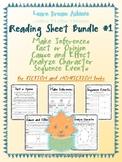 Reading Sheet Bundle #1: Inferences, Fact/Opinion, Cause/E