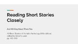 Reading Short Stories Closely (and writing about them too)