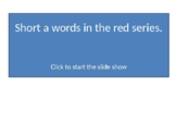 Reading---Short a words in the red series 3 choices (Set3)
