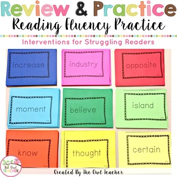 Sight Words and Reading Phrases Practice Cards