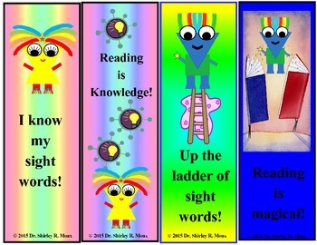 Reading/Sight Word Bookmarkers