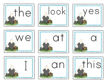 Reading Sight Word Cards
