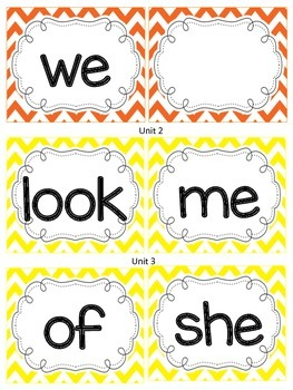 Reading Street Sight Word Cards