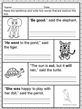 "Reading Bundle ""Sight Word Sentences"" (Worksheets)"
