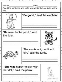 "Reading Bundle ""Sight Word Sentences"" (Worksheets)"