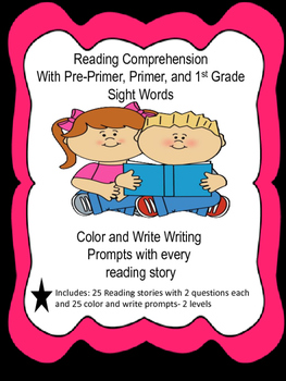 Reading Sight Word Stories with comprehension focus and writing prompts