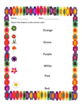 Reading Sight Words-Colors!