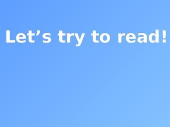 Reading Simple B Words