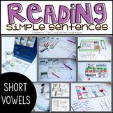 Short Vowel CVC Simple Sentences