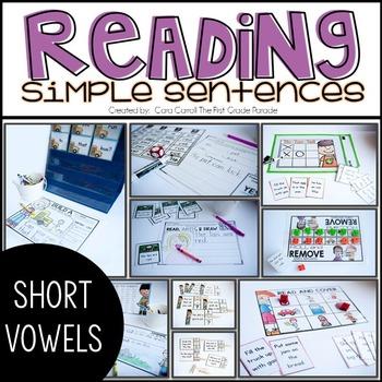 Simple Sentences - Short Vowels