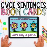 Reading Simple Sentences with CVCE Words | Boom Cards™