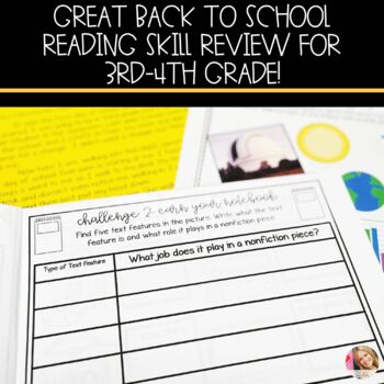 Reading Skill Back to School Challenge