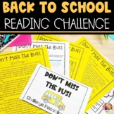 Back to School Challenge-Text Dependent Questions and Reading Skills