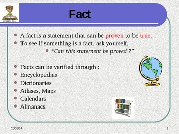 Reading Skill: Fact and Opinion
