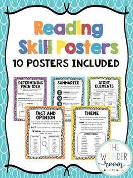 Reading Skill Posters - Reading Comprehension Posters - Reading Skills Posters