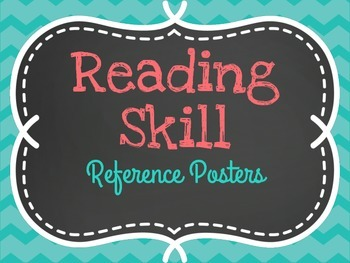 Reading Skill Reference Posters