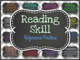Reading Skill Reference Posters (Chalkboard and Chevron)