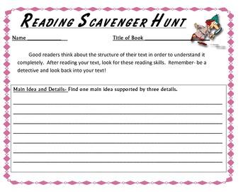 Reading Skill Scavenger Hunt