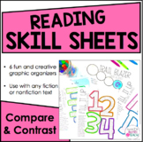 Reading Skill Sheets - Creative Graphic Organizers {Compare and Contrast}