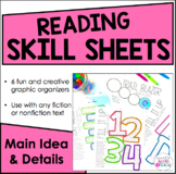 Reading Skill Sheets - Creative Graphic Organizers {Main Idea and Details}