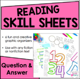 Reading Skill Sheets - Creative Graphic Organizers {Question and Answer}