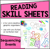 Reading Skill Sheets - Creative Graphic Organizers {Sequencing Events}