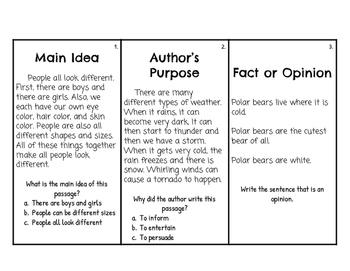 Reading Skill Task Cards