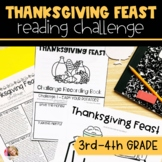 Thanksgiving Feast Challenge for Reading Skills