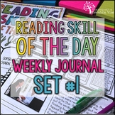 Reading Skill of the Day Weekly Journal