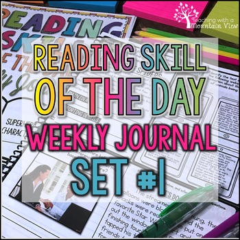 Reading Skill of the Day Weekly Journal   Distance Learning