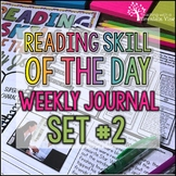 Reading Skill of the Day Weekly Journal SET #2
