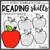 Reading Skills Apple Template
