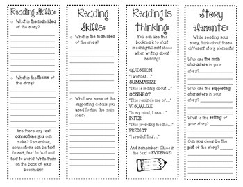 Reading Skills Bookmarks