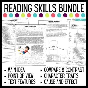 Reading Skills Bundle with Reading Comprehension Passages