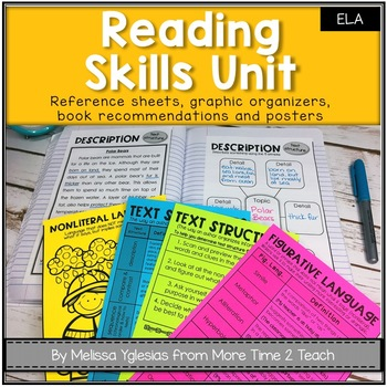 Reading Skills Bundle: Reference Sheets, Activity Sheets, Organizers, and MORE