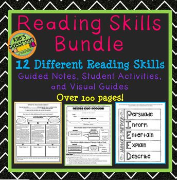 Reading Skills Bundle - Skills Practice to Use With Any Book! Growing Bundle