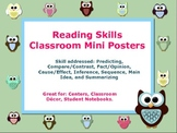 Reading Skills Classroom Mini Posters 10 mini posters for Reading centers.
