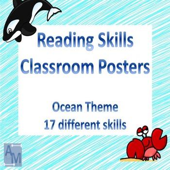 Reading Skills Classroom Posters - Ocean Theme