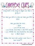 Reading Skills: Context Clues Anchor Chart