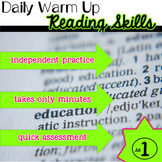Reading Skills Daily Warm Ups Set 1