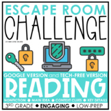 Reading Skills Escape Room | Distance Learning | 3rd Grade