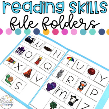 Reading Skills File Folder Activities for Special Education