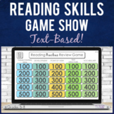 Reading Comprehension Skills Game Show Review   Text Based